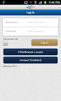 Screenshot of FirstMerit Mobile Banking
