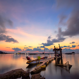 by Nam Ning - Landscapes Travel ( travel lake sunset landscapes )