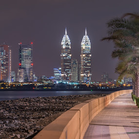 My City by Walid Ahmad - Buildings & Architecture Places of Worship ( dubai, d800, night, nikon, photography )