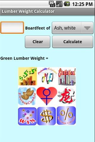 Lumber Weight Calculator