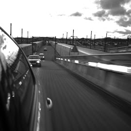 Channel Tunnel by Brett Hutt - Travel Locations Railway ( england, black and white, france, travel, channel, portrait, tunnel )