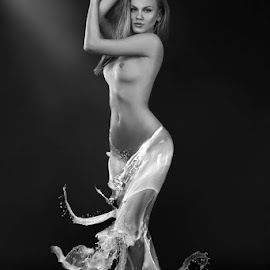 Milk1 by Natalia Artemieva - Nudes & Boudoir Artistic Nude ( nude model naked body female skirt unique milk,  )