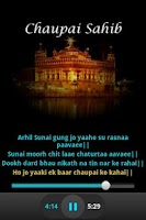 Screenshot of Chaupai Sahib Audio and Lyrics