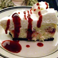 Lighter White Chocolate Raspberry Cheesecake