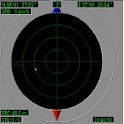 Electronic radar compass icon
