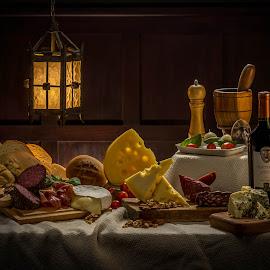 by Leonardo Cremona - Food & Drink Meats & Cheeses ( curso iluminacion, picada, clase 8, Food & Beverage, meal, Eat & Drink )