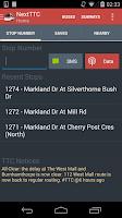 Screenshot of Next TTC