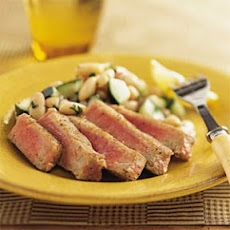 Tuna with White Bean-Cucumber Salad
