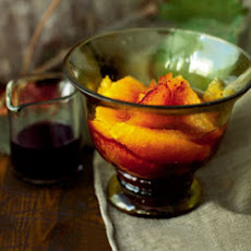 Fresh Oranges with Spiced Red Wine Syrup