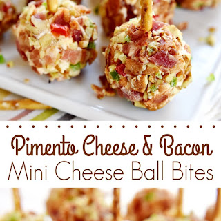 Pimento Cheese & Bacon Mini Cheese Ball Bites