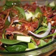 Warm Spinach Salad With Apples, Bacon, and Cranberries