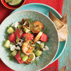Shrimp and Watermelon Skillet