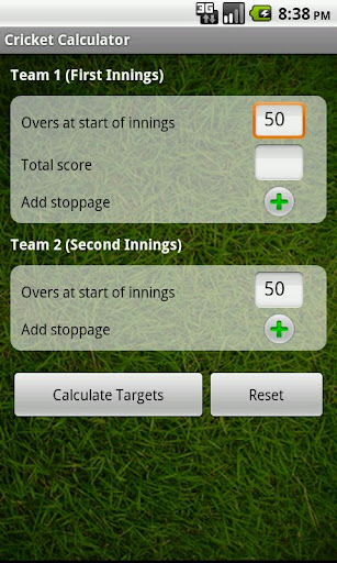 Cricket Calculator