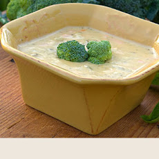 Creamy Broccoli Soup And With Sprout Salad