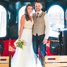 Trolley Love by Jess Anderson - Wedding Bride & Groom ( nx1, weddingphotography, weddingday, wedding, chicago, jessica anderson, ditchthedslr, mchenryphotography.com, weddingphotographer, imagelogger, photography )