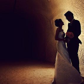 Tunnel of Love by Irwan Budiarto - Wedding Bride & Groom ( love, wedding, couple, tunnel, , silhouette, Wedding, Weddings, Marriage )