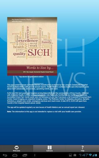 SJCH health news