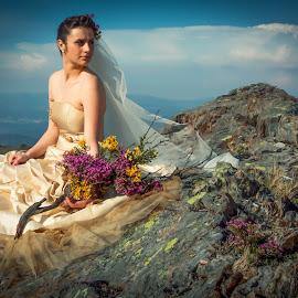 Take a look at the wild bride by Avelino Vieira - Wedding Bride ( serra da freita, arouca geopark, bride, arouca )
