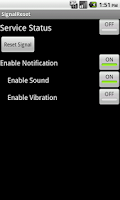 Screenshot of Signal Reset