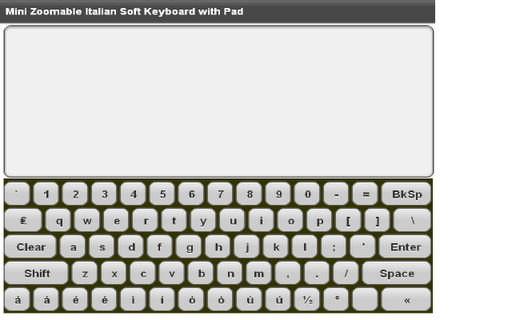 Mini Italian Keyboard Pad