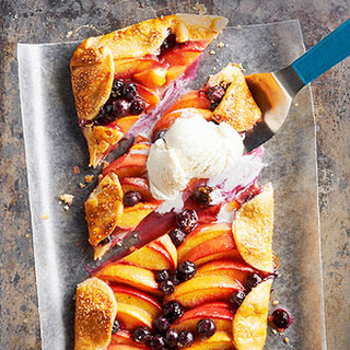 Peach and Blueberry Slab Pie