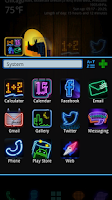 Screenshot of Midnit GO Launcher Theme