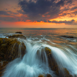 one level down by Budi Astawa - Landscapes Waterscapes ( sunset, twilight, pekutatan, jembrana, seascape, beach, coastline, negara )