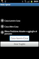 Screenshot of Nota Spese Aziendale