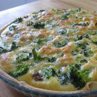 Mince And Broccoli Quiche
