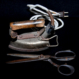 Iron and scissors by Antonio Amen - Artistic Objects Other Objects ( scissors, iron )