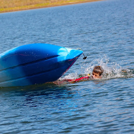 Capsized Kayak by Kathy Suttles - Sports & Fitness Watersports