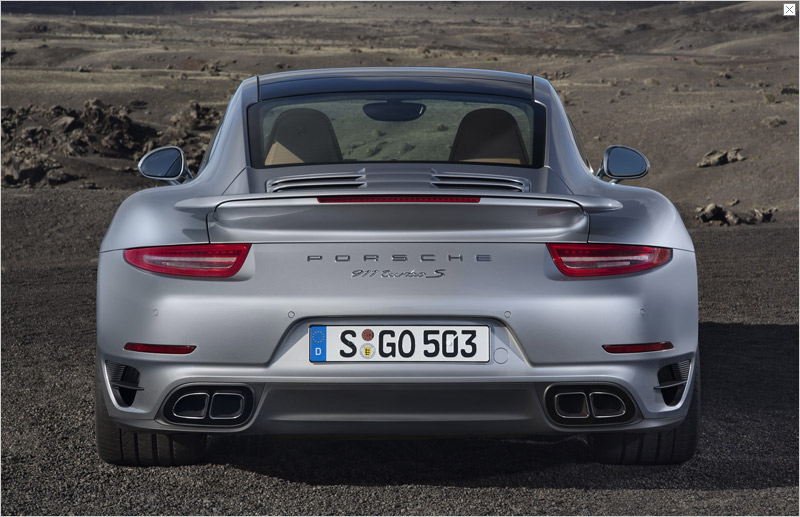 2014 Porsche 911 Turbo S Rear