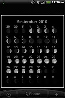 Screenshot of Moon Phase Widget