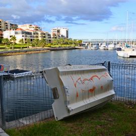 Balmain Cove by Kamila Romanowska - City,  Street & Park  City Parks ( shore, balmain, harbour, australia, cove, boat, sydney, city )