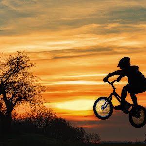 Biker and sunset.jpg