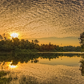 Sunset with amazing cloud by Ko Naing - Landscapes Cloud Formations