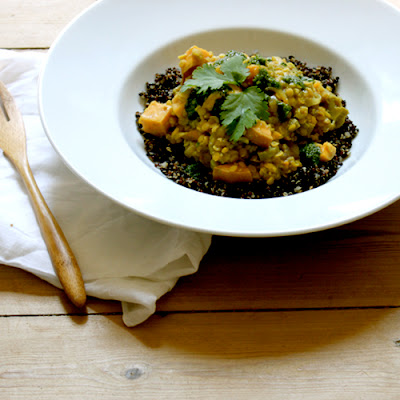 Meatless Mondays with Martha Stewart – Rhubarb-Lentil-Sweet Potato Stew