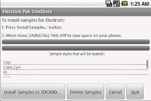 Screenshot of Electrum Pak OneShots