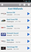 Screenshot of British Radio