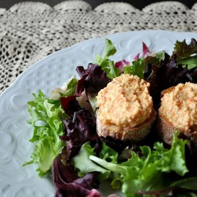 Salad With Pimiento Cheese Toasts