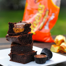 Peanut Butter Cup Blender Brownies