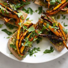 Herb-Roasted Carrot and Pesto Tartines