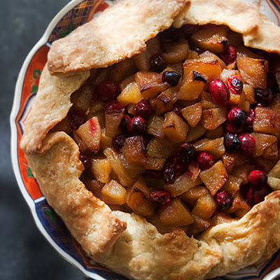Pear and Cranberry Rustic Tart