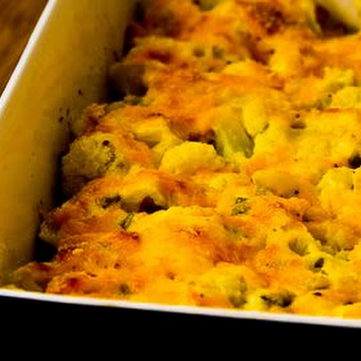 Cauliflower Gratin with Sharp Cheddar and Parmesan Recipe | Yummly