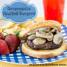 Gorgonzola-Stuffed Burgers