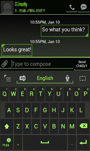 GO Keyboard ICS Green Skin