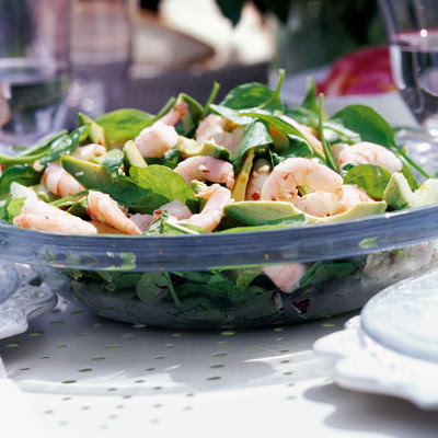 Spinach, Avocado & Prawn Salad