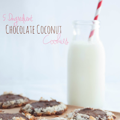 5 Ingredient Chocolate Coconut Slice and Bake Cookies