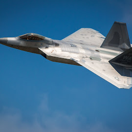 F22 at the Air Show 2014 by Darin Mellor - Transportation Airplanes ( offut air force bace, f22, bellevue, nebraska, blue angels, air show )