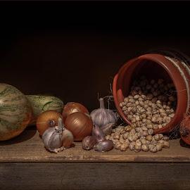Dinner by Margareth Perfoncio - Food & Drink Cooking & Baking ( garlic, chickpea, onion )
